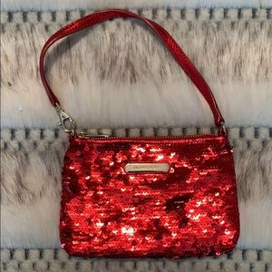 Handbags - Red Sequin Michael Kors Wristlet